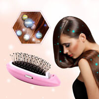 Portable Electric Ionic Hairbrush Takeout Negative Ion Massage Hair Brush Com.QA