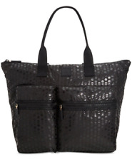 Tommy Hilfiger NWT Black Dotted Active Nylon Extra Large Tote Bag Weekender