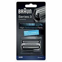 Braun 32B Series 3 Electric Shaver Replacement Foil Cutter Cartridge Head, Black