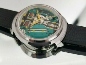 "Accutron Spaceview""B""Turtle Yellow Dot.1964.Extra Battery.Free Shipping!"