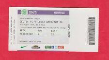 Orig.Ticket   Champions League  2014/15  CELTIC GLASGOW - LEGIA WARSCHAU  !!