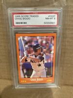1988 Craig Biggio Score Traded PSA 8 NM-Mint Graded Rookie RC Baseball CARD 103T