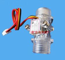 "G1/2"" Water Flow Hall Sensor Switch Flow Meter Flowmeter Counter 1-30L/min Clear"