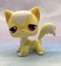 Littlest Pet Shop Authentic # 364 Pale Yellow White Angora Cat Magenta Pink Eyes