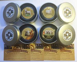 2015 Year Of The Sheep Set Of 4 x 1 Oz Coins C.O.A. LTD 1,000 + Collect Tin