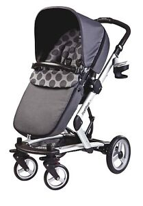 Peg Perego Skate Carriage  Stroller System Pois Grey New!! Open Box!