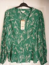 MONSOON JEAN GREEN PINK FLORAL FIT & FLARE BLOUSE TOP UK 22, EUR 50, US 18 BNWT