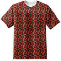 THE SHINING Overlook Hotel Carpet Print T Shirt Redrum All Work & No Play Jack