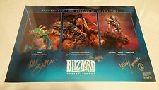 Blizzcon Legends of Voice Acting actor signed poster! Dee Bradley Baker