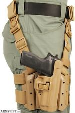 BLACKHAWK Tactical Drop-Leg/Thigh Holster- RH - Sig 220/226/228/229 COYOTE EUC