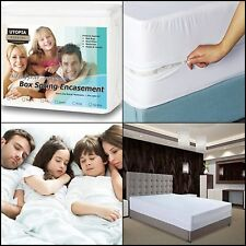 Mattress Cover Zippered Bed Bug Protector Box Spring Encasement Mites Queen Size
