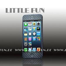 iPhone Hülle Case Aufkleber Carbon Sticker Klebefolie für iPhone 5S Schwarz