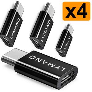4x Micro USB auf USB C Adapter Datenkabel Ladekabel Samsung Huawei Xiaomi