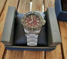 Spinnaker Hunley Magma Red 41.5 mm Automatic w Stainless Steel Bracelet