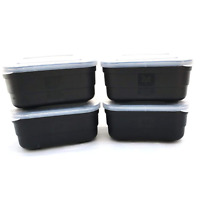 Pack of 4 Bait Boxes - Maggot Boxes for Fishing 1 Pint and 2 Pint sizes
