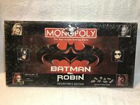 Monopoly Batman & Robin Collectors Edition Board Game 1997 Factory Sealed