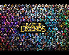 League of Legends LOL 14 Poster Art Print Gamers Wall Decoration 20x16 Inches