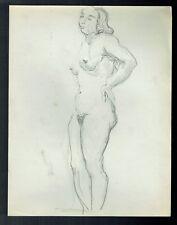 D24 - Dessin d'Etude au crayon - Femme Nue - vers 1950