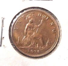 CIRCULATED 1878 1 FARTHING UK COIN !!!!!