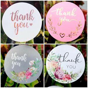 Thank You Sticker Thank You Business Sticker Thank you Wedding LARGE 38mm 40pcs
