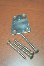 Vintage RARE 1960's EKO Violin Bass Guitar Neck Plate and Bolts Luthier Parts