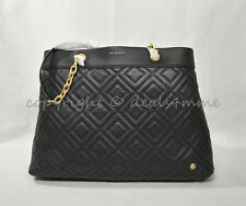 Tory Burch Black Fleming Large Triple Compartment Quilted Tote Bag 41885