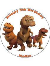 """La buona Dinosauro 7,5 """"la Carta di riso COMPLEANNO CAKE TOPPER DD5"""