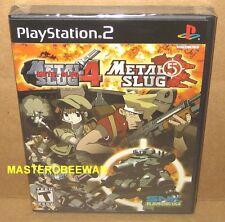 PS2 Metal Slug 4 & Metal Slug 5 New Sealed (Sony PlayStation 2, 2005)
