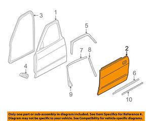 JAGUAR OEM 96-03 Vanden Plas-Door Skin Outer Panel Right FXF1052AF