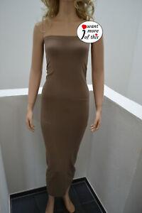 Wolford Fatal Dress Kleid Tube Top Rock Small moccasin grau