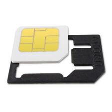 SET 4 NANO 1 ADATTATORI IN MICRO SIM IPHONE 5 GALAXY S4 S5 NANOSIM MICROSIM SIMt