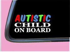 """Autistic Child TP 929 Sticker 8"""" Decal on Board window car truck sign autism"""