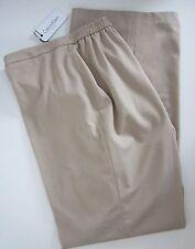 NWT Calvin Klein Womens Plus 22W  The Hudson Beige Straight Leg Dress Pants 33L