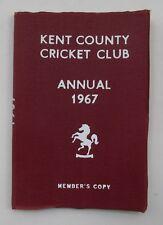 1967 KENT COUNTY CRICKET CLUB ANNUAL (Members Copy)