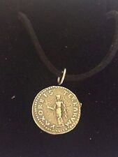 """Denarius Of Otho Roman Coin WC20 Made From Pewter On 18"""" Black Cord Necklace"""