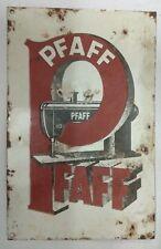 1940s  VINTAGE PFAFF SEWING MACHINE ADVT. PORCELAIN ENAMEL  SIGN BOARD