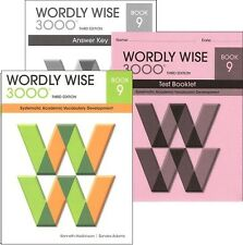 Wordly Wise 3000 Grade 9 SET -- Student, Key and Tests NEW  *3rd edition*