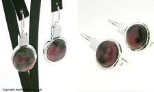 Rhodonite & Sterling Silver Drop Earrings