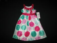 """NEW """"Jade & Fushia Dots"""" Dress Girls Clothes 6X Spring Summer Boutique Easter"""