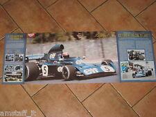 # POSTER JACKIE STEWART TYRRELL 006 GP F1 ZOLDER 1973 CM.77X28 AE12