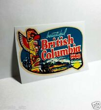 BRITISH COLUMBIA Canada Vintage Style Travel Decal, Vinyl Sticker, luggage label