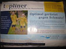 TOPLINER für Wasserbetten * 90/200 * Staub-Schutz für Wasserkerne