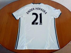 Manchester United Herrera Shirt XL 2017 2018 # 21 Ander Herrera 2017/18 Man Utd