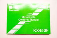 OEM Kawasaki 99987-1795 Owner's Manual KX450FEF NOS