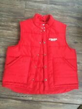 Vintage Kendall Oil Puffer vest. Red. Lacy Sportswear. Large!