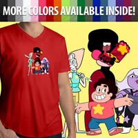 Steven Universe Garnet Amethyst Pearl Crystal Gems Show Mens Tee V-Neck T-Shirt