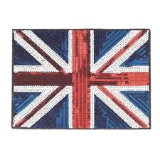 Sequin Union Jack XL (Iron on) Embroidery Applique Patch Sew Iron Badge