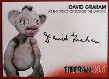 FIREBALL XL5 - DAVID GRAHAM as Zoonie the Lazoon - AUTOGRAPH CARD DG3