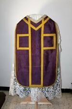 Chasuble Romaine de prêtre violette XIXe Siècle XIXe Siècle