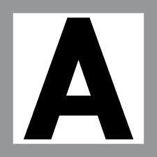 Sticker Letter a 20cm Sticker Attention Beginners Novice Car Bus Lorry